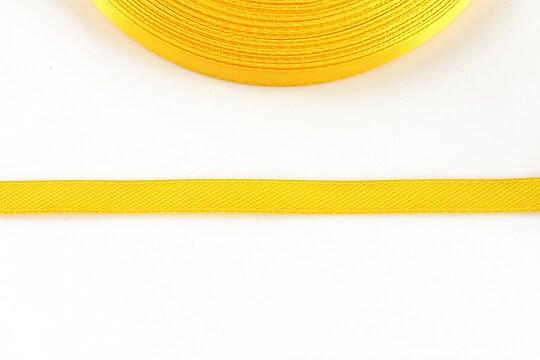 Panglica saten latime 0,6cm (1m) - galben portocaliu
