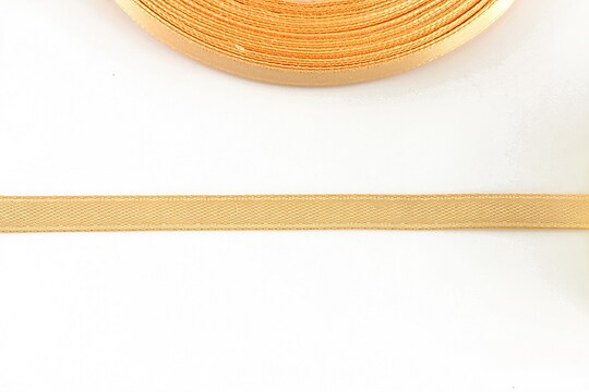 Panglica saten latime 0,6cm (1m) - portocaliu piersica