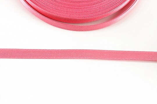 Panglica saten latime 0,6cm (1m) - roz