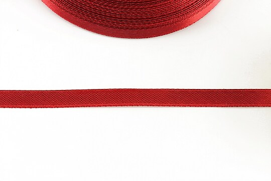 Panglica saten latime 0,6cm (1m) - rosu zmeuriu