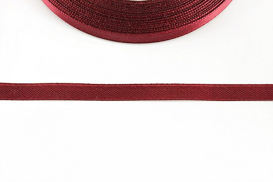 Panglica saten latime 0,6cm (1m) - bordo