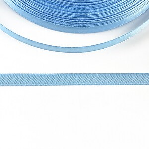 Panglica saten latime 0,6cm (1m) - albastru deschis