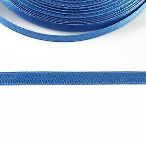 Panglica saten latime 0,6cm (1m) - albastru denim