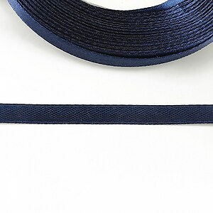 Panglica saten latime 0,6cm (1m) - albastru inchis