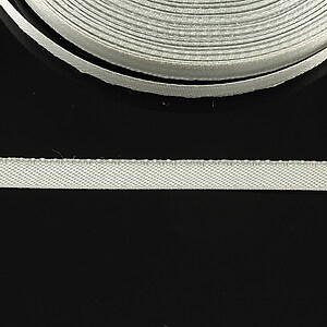 Panglica saten latime 0,6cm (1m) - gri