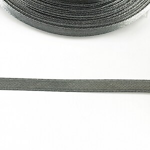 Panglica saten latime 0,6cm (1m) - gri inchis
