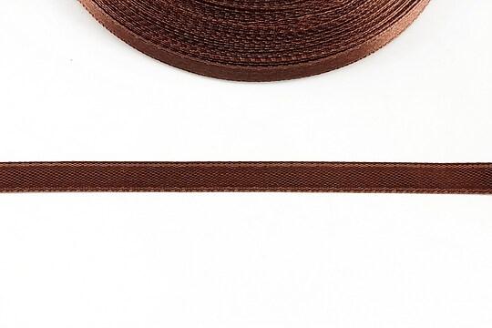 Panglica saten latime 0,6cm (1m) - maro roscat