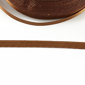 Panglica saten latime 0,6cm (1m) - maro