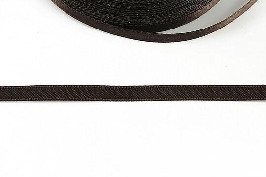 Panglica saten latime 0,6cm (1m) - maro inchis