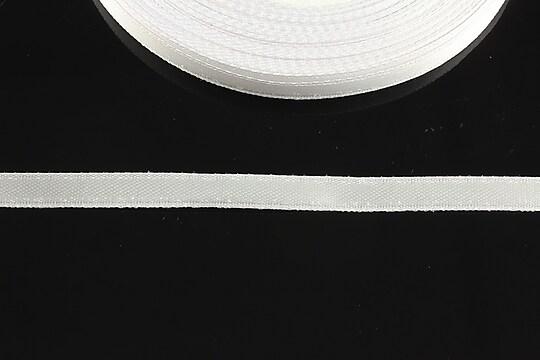 Panglica saten latime 0,6cm (1m) - alb