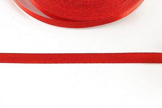 Panglica saten latime 0,6cm (1m) - rosu