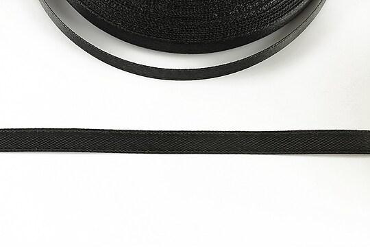 Panglica saten latime 0,6cm (1m) - negru