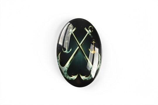 Cabochon sticla 30x20mm cod A5552