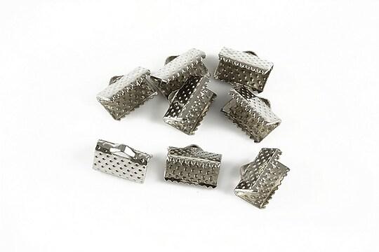Capat snur argintiu inchis 10mm (10x8x6mm) (10buc.)