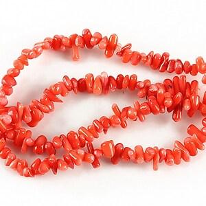 Sirag coral rosu 11-6x4-3mm