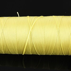 Ata de insirat 0,5mm, mosor de 300m - galben deschis
