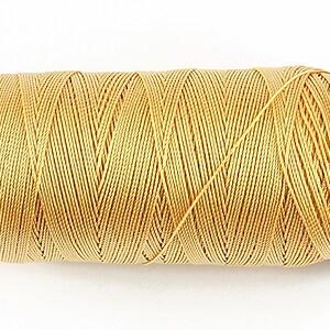 Ata de insirat 0,6mm, mosor de 200m - galben auriu