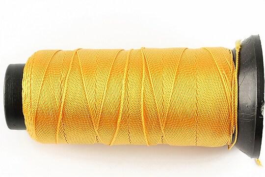 Ata de insirat 0,8mm, mosor de 130m - portocaliu deschis