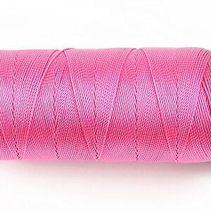 Ata de insirat 0,8mm, mosor de 130m - roz neon