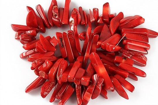 Sirag coral rosu fulgi 5-7x10-33mm