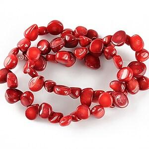 Sirag coral rosu nuggets 7-11x9-13mm