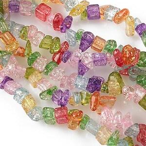 Chipsuri sticla colorata crackle