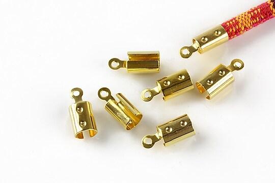 Capat snur auriu interior 5mm (10buc.)