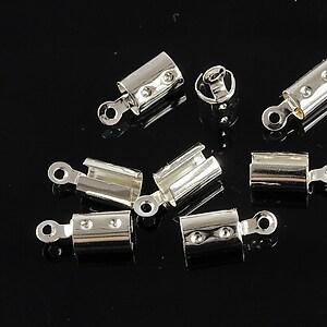 Capat snur argintiu, interior 5mm (10buc.)
