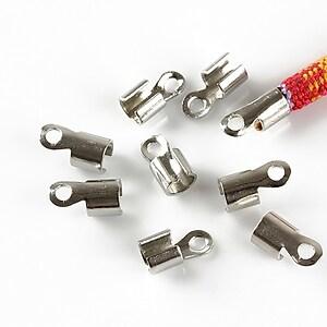Capat snur argintiu inchis, interior 3-3,5mm (10buc.)