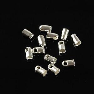 Capat snur argintiu, interior 3mm (10buc.)
