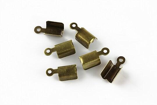 Capat snur bronz, latime 4mm (10buc.)