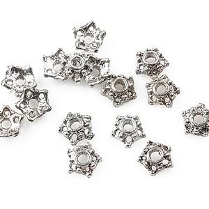 Capacele margele argint tibetan 7mm (10 buc.)