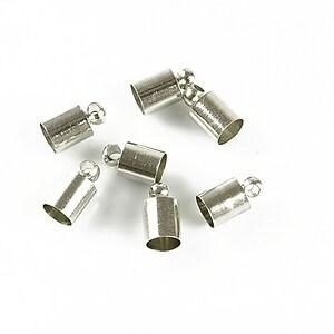 Capat de snur argintiu inchis 9x5mm (interior 4,5mm)