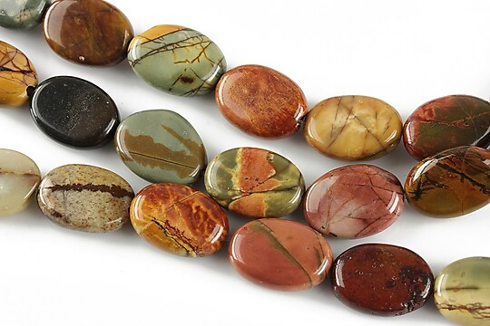 Picasso jasper oval 14x10mm