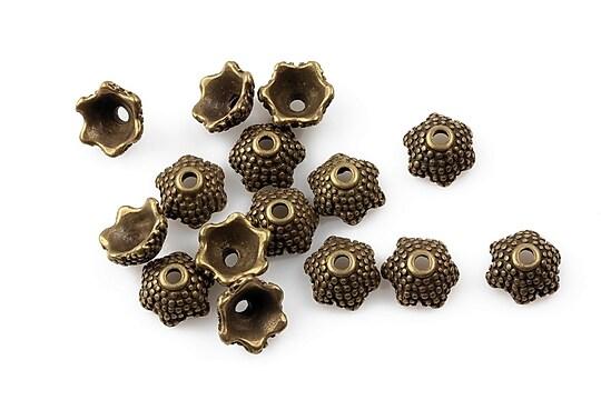 Capacele margele bronz 8x4mm
