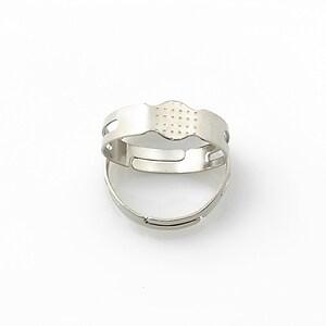 Baza de inel argintiu inchis, reglabila, platou 5,5mm