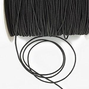 Elastic 1mm - negru1 (1m)