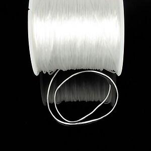 Elastic pentru bratari Crystal String 0,8mm - rola 50m - alb