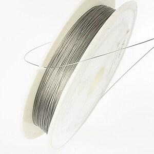 Sarma siliconata argintie grosime 0,25mm, rola de 100m