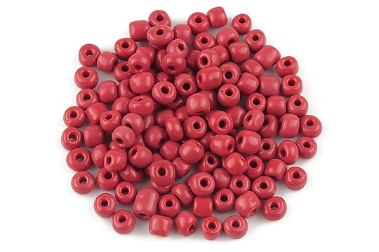 Margele de nisip 4mm (50g) - cod 199 - rosu inchis