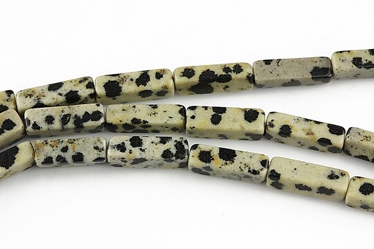 Jasp dalmatian tub 13-14x4-5mm