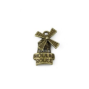Charm bronz Moulin Rouge 21x13mm