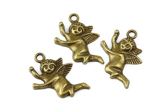 Charm bronz cupidon 26x20mm