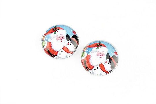 "Cabochon sticla 16mm ""Christmas"" cod 1184"