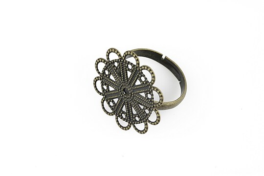 Baza de inel bronz, reglabila, platou 22mm