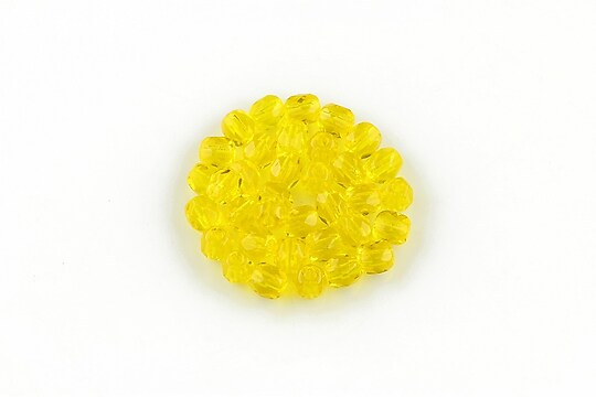 Margele fire polish 4mm (10 buc.) - Jonquil