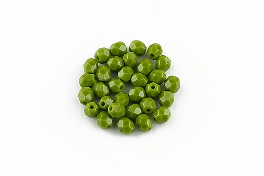 Margele fire polish 4mm (10 buc.) - Opaque Olive