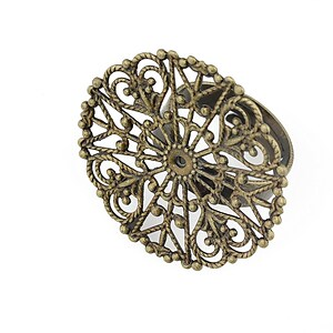 Baza de inel bronz, reglabila, platou 30mm