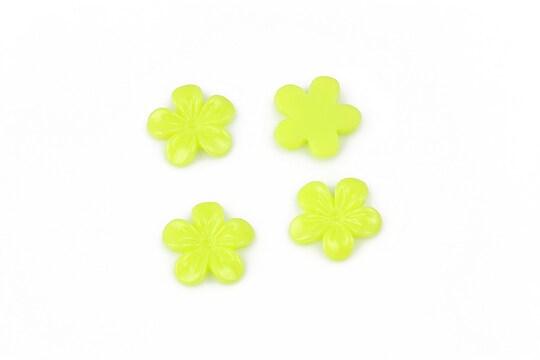 Cabochon rasina floare 11mm - verde deschis
