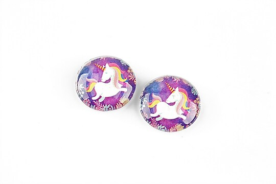 "Cabochon sticla 16mm ""Unicorn"" cod 1249"